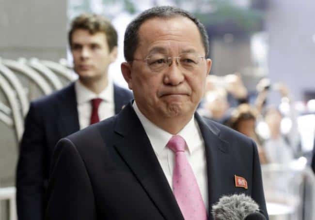 Ri Yong-Ho, ministre des affaires étrangères nord-coréen